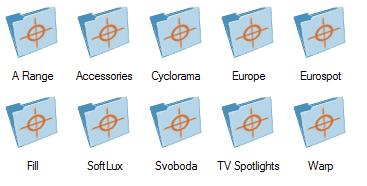 Tous les projecteurs ADB dans Vectorworks Spotlight 2013