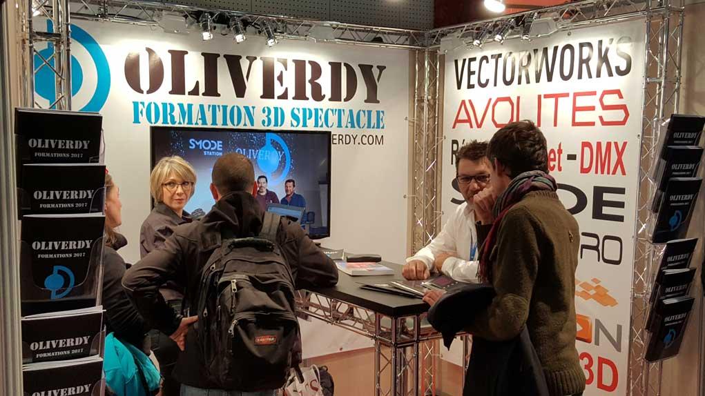 Sur le stand Oliverdy aux JTSE, Matthieu Savatier, olivier et Isabelle Dufresne.